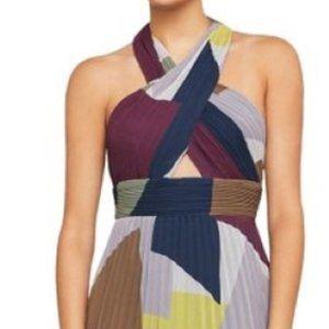 BCBGMAXAZRIA Pleated Haulter Formal Dress